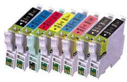 Compatible Epson T0341/T0342/T0343/T0344/T0345/T0346/T0347/T0348 a Set of 8 Ink cartridges