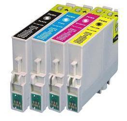 Compatible Epson T0551/T0552/T0553/T0554 Set of 4  Ink cartridges