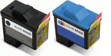 Remanufactured Dell T0529 High Capacity Black and T0530 High Capacity Colour Ink cartridges (Series 1)