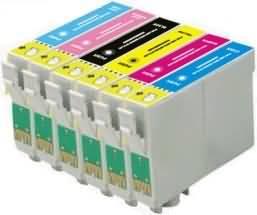 Compatible Epson T0801/T0802/T0803/T0804/T0805/T0806 a Set of 6 Ink cartridges