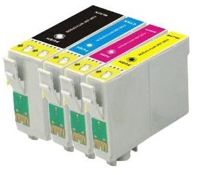 Compatible Epson T1001/T1002/T1003/T1004 a set of 4 Ink Cartridges Black/Cyan/Magenta/Yellow