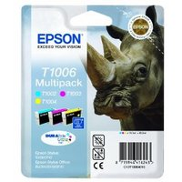 Original Epson T1006 a set of 3 Colour  Ink Cartridges  Multipack