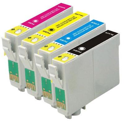 Compatible Epson T1281/T1282/T1283/T1284 a Set of 4 Cartridges