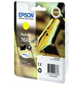 Original Epson 16XL Yellow Ink cartridge High Capacity  (T1634)  (16XL)