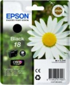 Original Epson 18 Black Ink Cartridge (T1801) (C13T18014010)