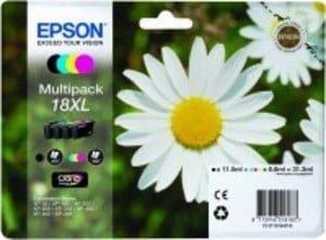 Original Epson 18XL a set of 4 Colour cartridges Multipack High Capacity (T1816) (Black,Cyan,Magenta,Yellow) (C13T18164010)