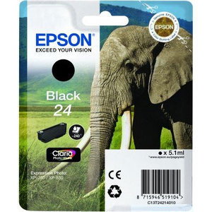 Original Epson 24 Black Ink Cartridge (T2421) (24 Series)