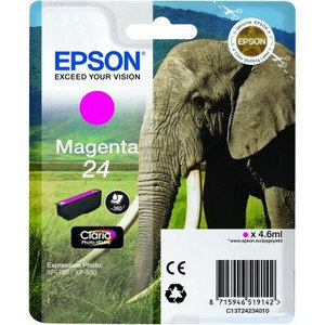 Original Epson 24 Magenta Ink Cartridge (T2423) (24 Series)