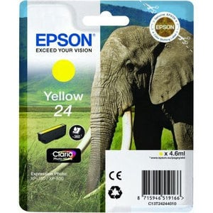 Original Epson 24 Yellow Ink Cartridge (T2424) (24 Series)