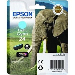 Original Epson 24 Light Cyan Ink Cartridge (T2425)