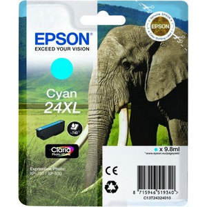 Original Epson 24XL Cyan Ink cartridge High Capacity (T2432)