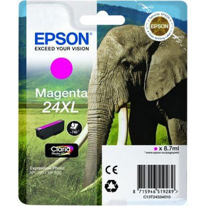 Original Epson 24XL Magenta Ink Cartridge High Capacity (T2433) (24XL)