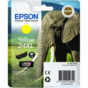 Original Epson 24XL Yellow Ink Cartridge High Capacity (T2434) (24XL)