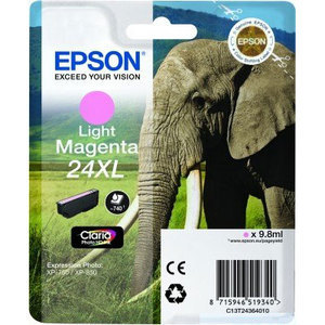 Original Epson 24XL Light Magenta Ink Cartridge High Capacity (T2436) (24XL)