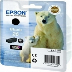 Original Epson 26 Black Ink Cartridge (T2601) (Series 26)