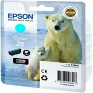 Original Epson 26 Cyan Ink Cartridge (T2612) (Series 26)