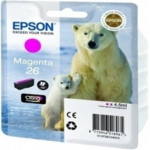 Original Epson 26 Magenta Ink Cartridge (T2613) (Series 26)