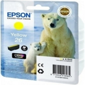 Original Epson 26 Yellow Ink Cartridge (T2614) (Series 26)