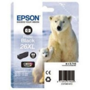 Original Epson 26XL Photo Black Ink cartridge High Capacity (T2631) (26XL)