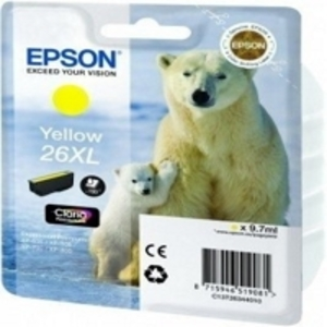 Original Epson 26XL Yellow Ink cartridge High Capacity  (T2634) (26XL)