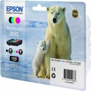 Original Epson 26XL High Capacity Multipack (T2636) (Black,Cyan,Magenta,Yellow)