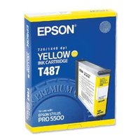 Original Epson T487 Yellow Ink Cartridge