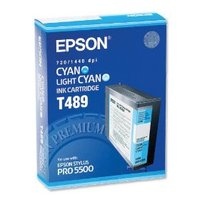 Original Epson T489 Cyan Ink Cartridge