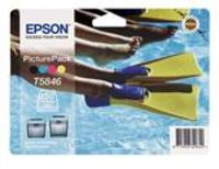 Original Epson T5846 Picturepack - Ink Cartridge + Paper