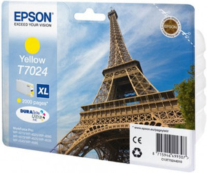 Original Epson T7024 XL Yellow Ink Cartridge