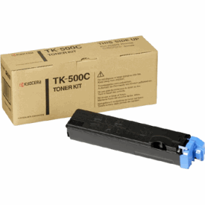 Original Kyocera TK-500C Cyan Toner Cartridge