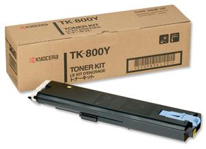 Original Kyocera TK-800Y Yellow Toner Cartridge