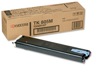 Original Kyocera TK-805M Magenta Toner Cartridge
