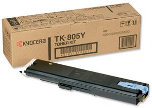 Original Kyocera TK-805Y Yellow Toner Cartridge