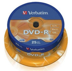 Verbatim - DVD-R - 16x - 4.70 GB - 25 Pack