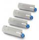 Original Oki 4387230 Toner Cartridge Multipack (43865708/43872307/43872306/43872305)